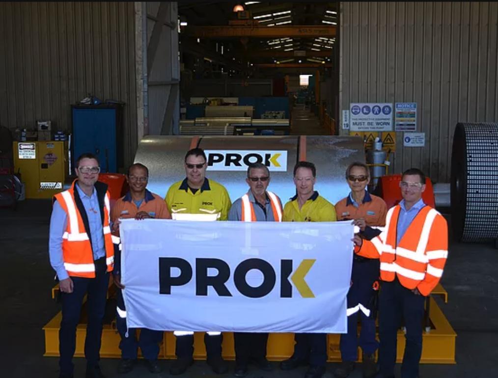 Aqui está um photoshoot do trabalho em equipe do PROK.