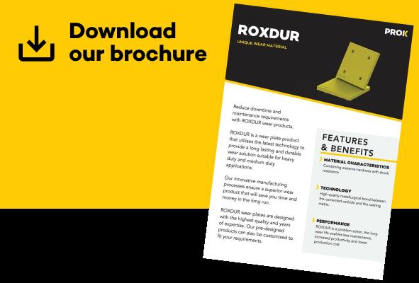 Folheto de soluções de desgaste Roxdur