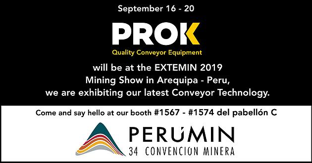 PROK estará na EXTEMIN Peru Mining Show em 2019.